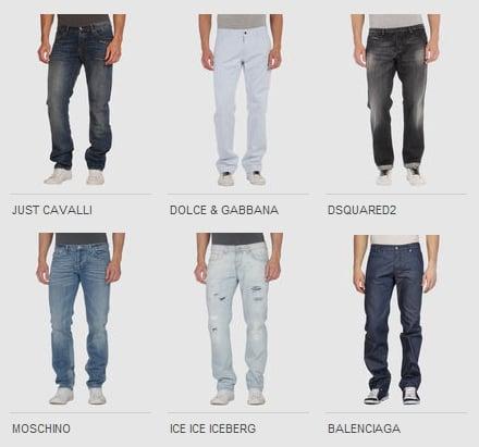 Jeans uomo armani dior d g dsquared2 gucci for Modelli di caverna dell uomo