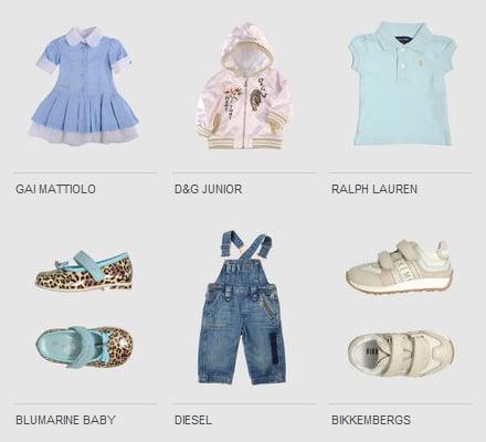 abbigliamento griffato per bambini