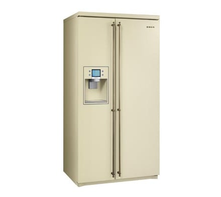 Frigorifero coloniale side by side sbs800po smeg for Frigorifero side by side