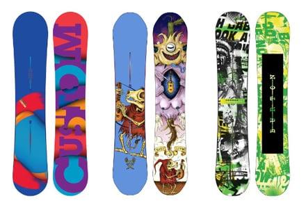 Tavole da snow burton freeride e freestyle - Costruire tavola da snowboard ...