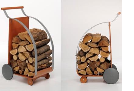 Alfuoco di foppapedretti carrello portalegna for Carrello cucina design