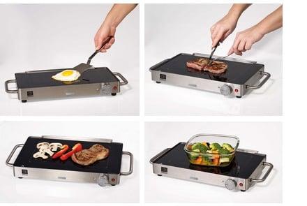 Ariete yaki grill griglia con piano in vetroceramica - Piastra elettrica cucina ...