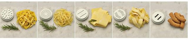 5 diverse trafile per la pasta