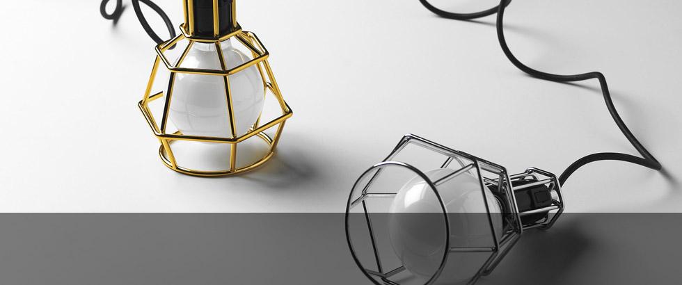 Lampada Work Lamp di Design House Stockholm, dal cantiere alla casa