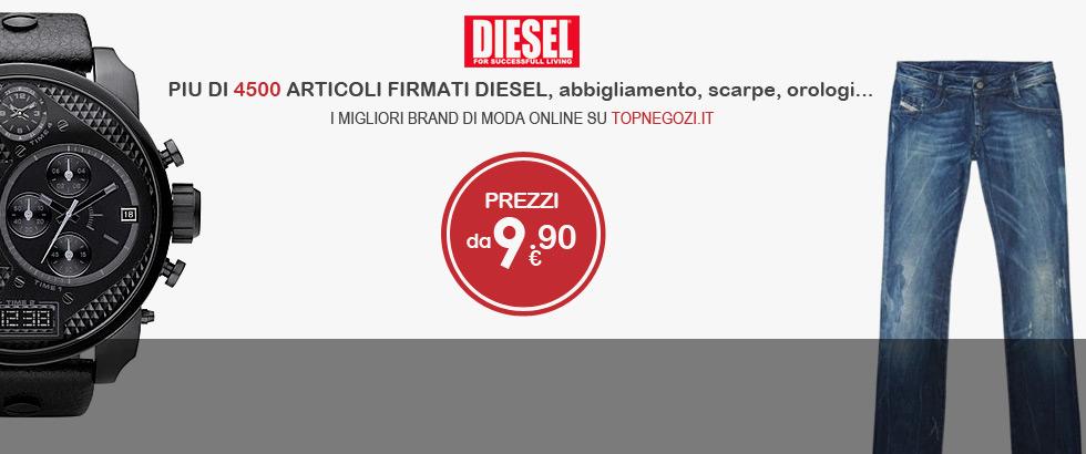 Diesel - Più di 4500 articoli firmati Diesel: jeans, abbigliamento, scarpe, accessori moda, orologi...