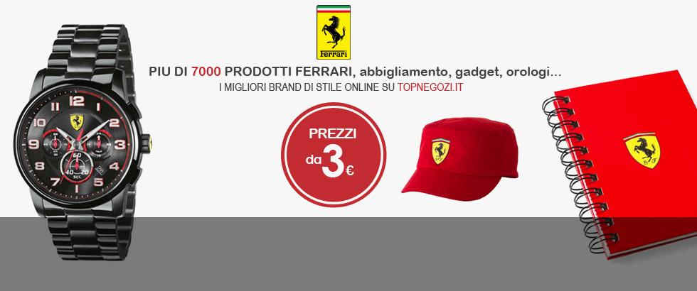 Ferrari - Piu di 7000 prodotti Ferrari: abbigliamento, gadget, orologi... prezzi a partire da 3 euro
