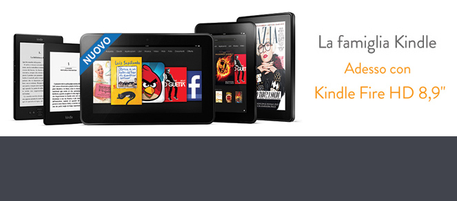 Il nuovo Kindle Fire HD 8.9 da 269 euro
